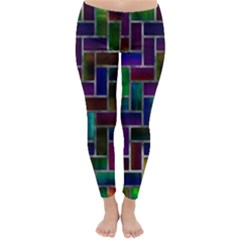 Colorful Rectangles Pattern Winter Leggings