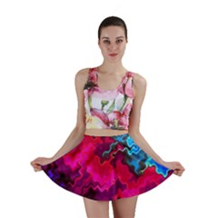 Psychedelic Storm Mini Skirts