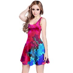 Psychedelic Storm Reversible Sleeveless Dresses