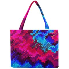 Psychedelic Storm Tiny Tote Bags