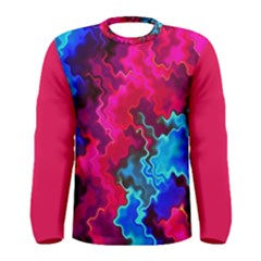 Psychedelic Storm Men s Long Sleeve T Shirts
