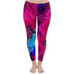 Psychedelic Storm Winter Leggings