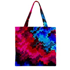 Psychedelic Storm Zipper Grocery Tote Bags