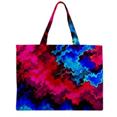 Psychedelic Storm Zipper Tiny Tote Bags