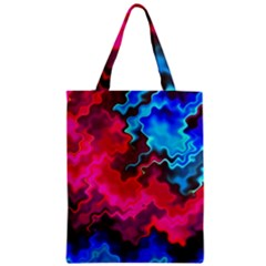 Psychedelic Storm Zipper Classic Tote Bags