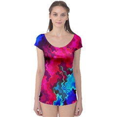 Psychedelic Storm Short Sleeve Leotard