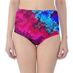 Psychedelic Storm High-Waist Bikini Bottoms