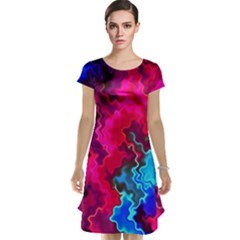 Psychedelic Storm Cap Sleeve Nightdresses
