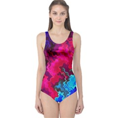 Psychedelic Storm Women s One Piece Swimsuits