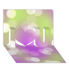 Modern Bokeh 7 I Love You 3d Greeting Card (7x5)