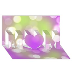 Modern Bokeh 7 Mom 3d Greeting Card (8x4)