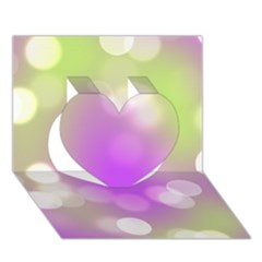 Modern Bokeh 7 Heart 3D Greeting Card (7x5)
