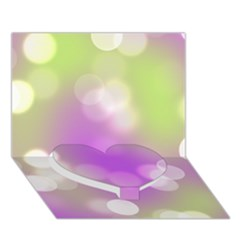 Modern Bokeh 7 Heart Bottom 3d Greeting Card (7x5)