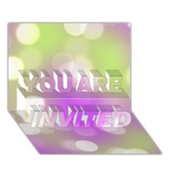 Modern Bokeh 7 YOU ARE INVITED 3D Greeting Card (7x5)