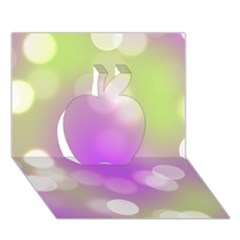 Modern Bokeh 7 Apple 3D Greeting Card (7x5)