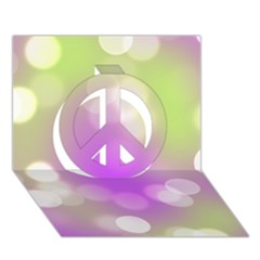 Modern Bokeh 7 Peace Sign 3d Greeting Card (7x5)