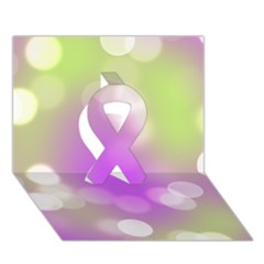 Modern Bokeh 7 Ribbon 3d Greeting Card (7x5)