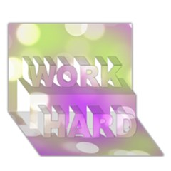 Modern Bokeh 7 Work Hard 3d Greeting Card (7x5)