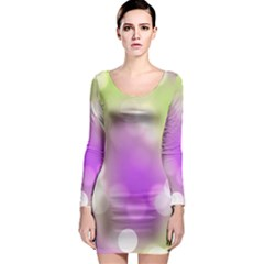Modern Bokeh 7 Long Sleeve Bodycon Dresses