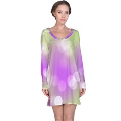 Modern Bokeh 7 Long Sleeve Nightdresses