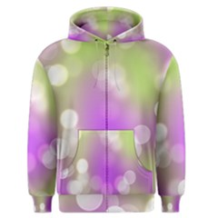 Modern Bokeh 7 Men s Zipper Hoodies