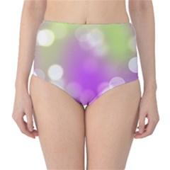 Modern Bokeh 7 High-Waist Bikini Bottoms
