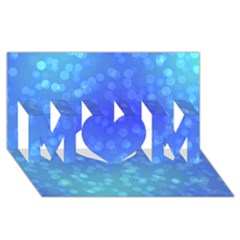 Modern Bokeh 8 Mom 3d Greeting Card (8x4)