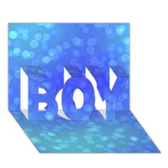 Modern Bokeh 8 BOY 3D Greeting Card (7x5)