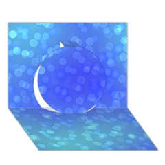 Modern Bokeh 8 Circle 3d Greeting Card (7x5)