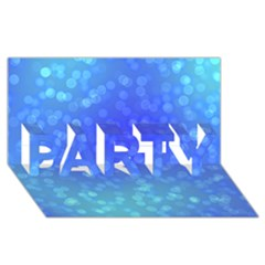 Modern Bokeh 8 PARTY 3D Greeting Card (8x4)