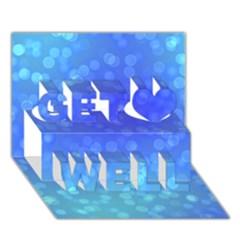 Modern Bokeh 8 Get Well 3D Greeting Card (7x5)
