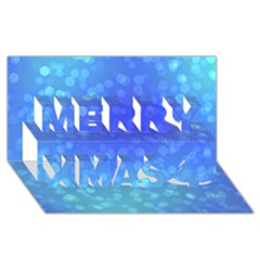 Modern Bokeh 8 Merry Xmas 3D Greeting Card (8x4)