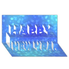 Modern Bokeh 8 Happy New Year 3D Greeting Card (8x4)