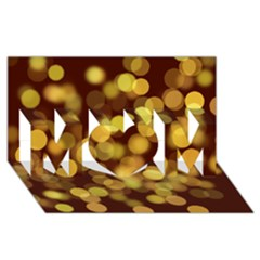 Modern Bokeh 9 MOM 3D Greeting Card (8x4)