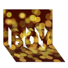 Modern Bokeh 9 BOY 3D Greeting Card (7x5)
