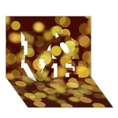 Modern Bokeh 9 LOVE 3D Greeting Card (7x5)