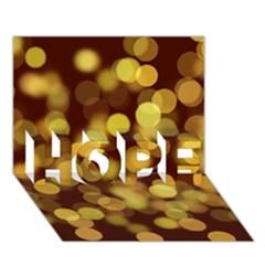 Modern Bokeh 9 Hope 3d Greeting Card (7x5)
