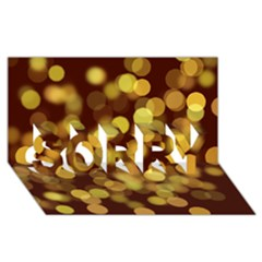 Modern Bokeh 9 SORRY 3D Greeting Card (8x4)
