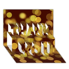 Modern Bokeh 9 THANK YOU 3D Greeting Card (7x5)
