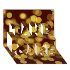 Modern Bokeh 9 TAKE CARE 3D Greeting Card (7x5)