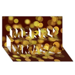 Modern Bokeh 9 Merry Xmas 3d Greeting Card (8x4)