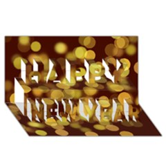 Modern Bokeh 9 Happy New Year 3d Greeting Card (8x4)