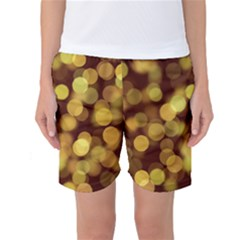 Modern Bokeh 9 Women s Basketball Shorts