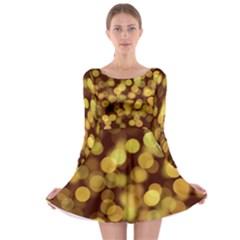 Modern Bokeh 9 Long Sleeve Skater Dress