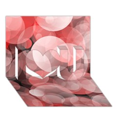 Modern Bokeh 10 I Love You 3d Greeting Card (7x5)