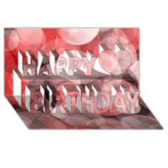 Modern Bokeh 10 Happy Birthday 3d Greeting Card (8x4)