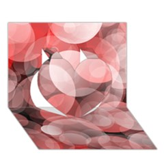Modern Bokeh 10 Heart 3D Greeting Card (7x5)