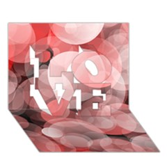 Modern Bokeh 10 LOVE 3D Greeting Card (7x5)