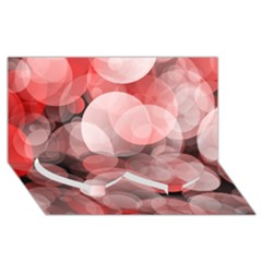 Modern Bokeh 10 Twin Heart Bottom 3D Greeting Card (8x4)
