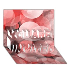 Modern Bokeh 10 You Are Invited 3d Greeting Card (7x5)
